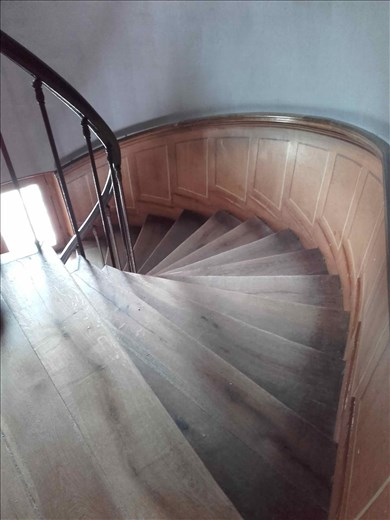 Chateau d'Azay- Rideau -- looking down staircase