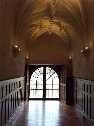 Chateau d'Azay- Rideau --vaulted ceiling in hallway