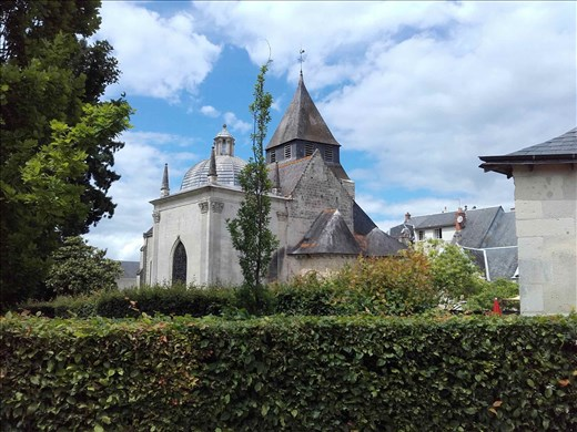 Chateau d'Azay- Rideau -- nearby church from chateau grounds