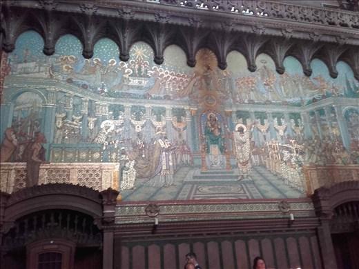 Lyon -- Basilica Notre Dame de Fourviere -- mosaic tiled fresco