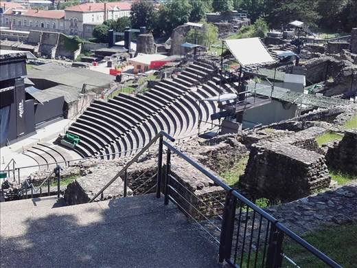 Lyon -- Roman amphitheater ruins -- being converted to concert venue.02