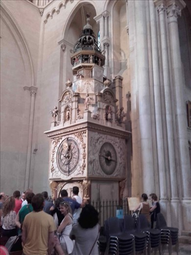 Lyon -- Cathedrale St Jean -- horological/astronomical clock