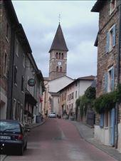 Beaujolais -- Clochemerle -- main street and church: by billh, Views[187]