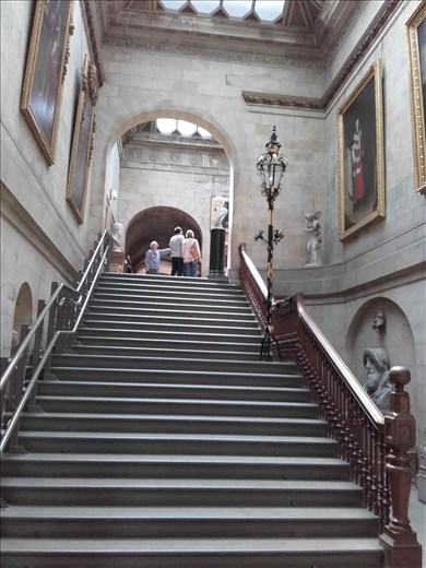 Castle Howard -- front hallway stairs