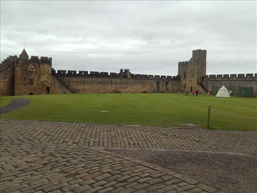 Alnwick Castle -- inspiration for Quiddich field in Harry Potter movies