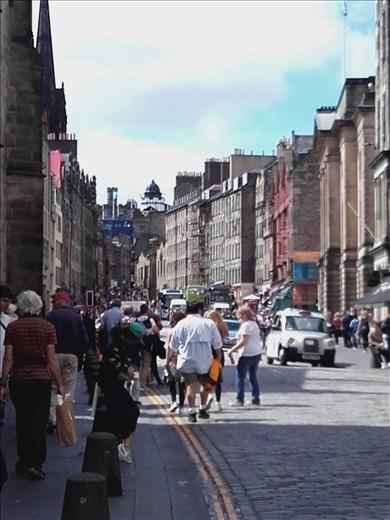 Edinburg Castle -- street leading up to castle.02