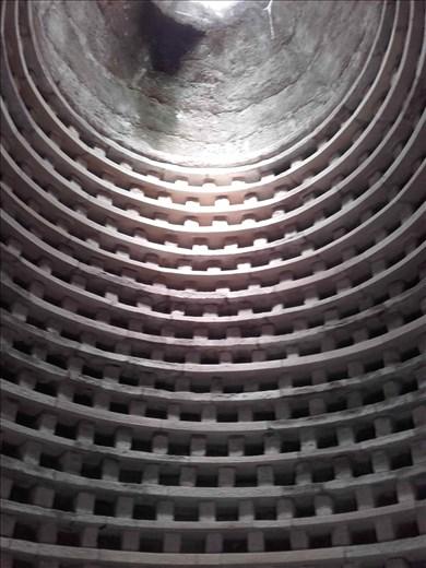 Direlton Castle -- dovecote for pigeons -- interior