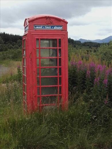 Northwest rural Scotland -- abandoned metal phone booth.02