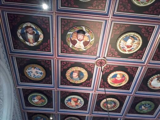 Scotland -- Stirling Castle -- raised ceiling frescos