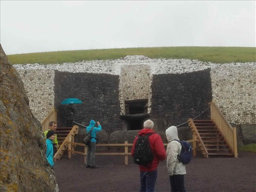 Ireland -- Carrowmore Neolithic mound -- opened-up section of passage