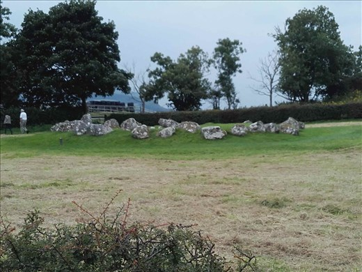 Ireland -- Carrowmore Neolithic mound.05