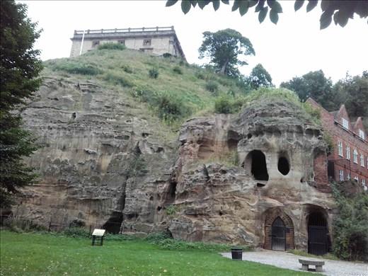England -- Nottingham Castle  -- tunnel openings under castle.01