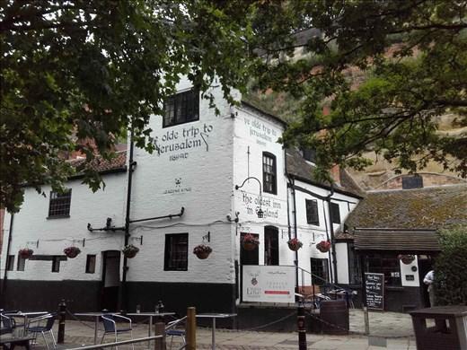 England -- Nottingham Castle  -- old pub at base of castle -- 1100's