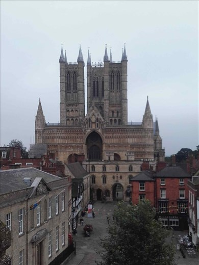 England -- Lincoln Cathedral -- from Castle battlements.03