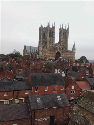 England -- Lincoln Cathedral -- from Castle battlements.02