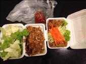 Catfish floss and pork noodle salad: by bjoudman, Views[276]