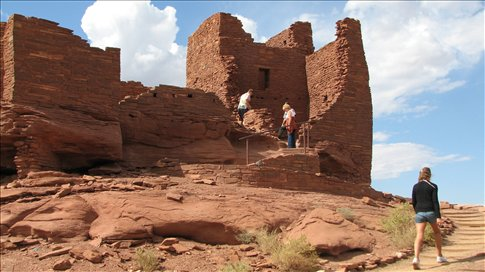 The first Wupatki pueblo, built by the ancestors to the Navajo and Hopi 900 years ago. I had no idea anything like this existed until I saw it!