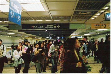 The subway rush