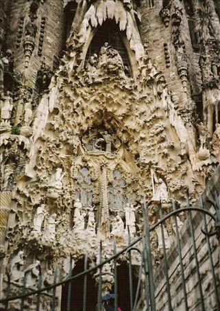 details of the Sagrada Familia