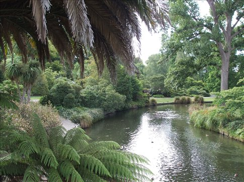 Christchurch river from Botanical Gardens