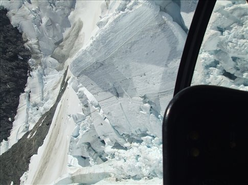 The glacier from the copter