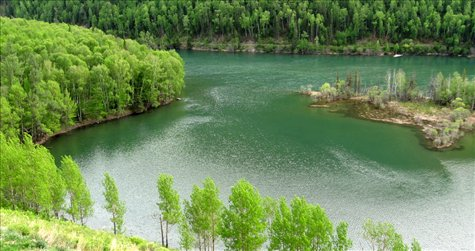 Kanas River Landslide Lake