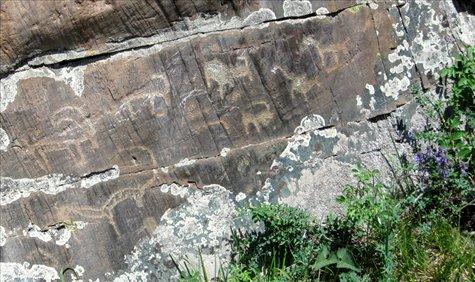 Petroglyphs, Kanas Lake