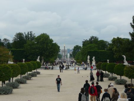 View down the Champs Elysee to the Arc d'Triomphe taken from the Jardin des Tuileries