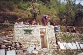 Bishant cutting stone on the project site with an entourage of onlookers!: by bonnie, Views[288]
