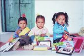 A happy trio - Jatoli school: by bonnie, Views[225]