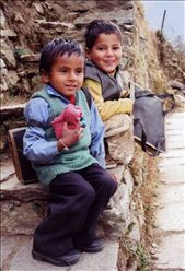 Suresh & Derech hanging out after school: by bonnie, Views[142]