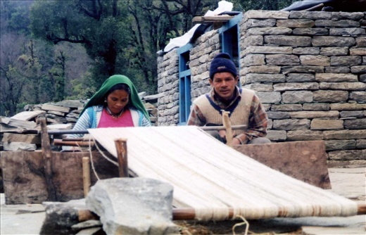 Bhashanti & Shiv at the loom