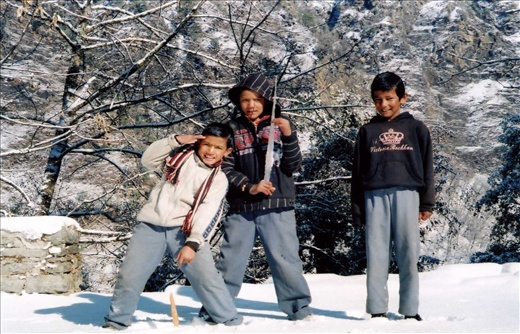 Kamlesh, Pawan & Deepu having some fun in the snow