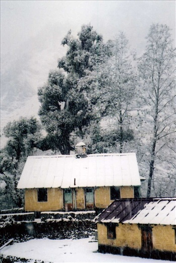 PWD in the snowfall (Khati)