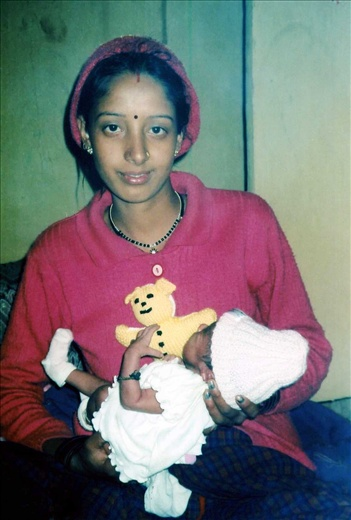 Kamala the proud mum to 10 day old Daya