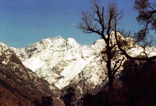 A brilliant view from the Nanda Devi Mandir (Khati)