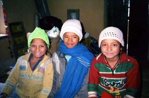 This is a shot of Bhasanti, Eshoda & Chandani - all in Class 5. Winter school 2013/14.