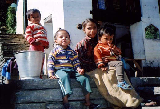 Chandan, Maya, Ganga (from Nepal) & Hema. Taken at Ritang (2km from Khati).