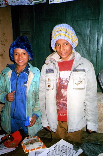 Deepu & Manoj (Class 5). Winter school 2013/14.