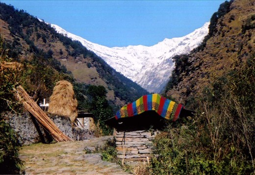 The view from Ritang (2km from Khati)  looking toward Sunderdhunga.