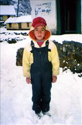 Rohit (Class 3) striking a very serious face in the fresh snow....: by bonnie, Views[189]