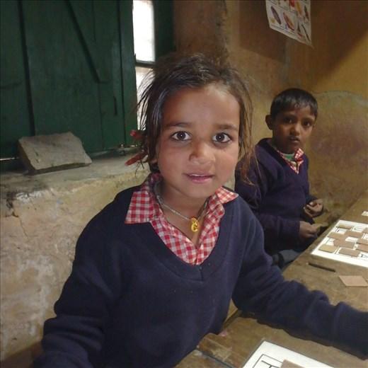 Jyonti (Class 1) & Karan (Class 2).