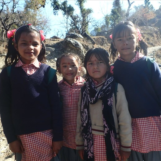 Some of the girls from Waucham who do a 10km walk (to school and back home) to come to class...