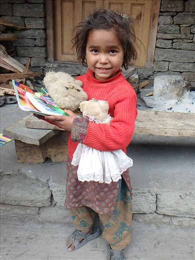 Ritang currently has several families of Nepali workers working on a hydro project (that is a whole other story). The children are frequently 'outside' of the formal education system. We had left over resources (and old library toys) that we gave to the kids including Chandani (pictured here). It was heartwarming to walk to Ritang a week later to see the kids using the materials in an 'informal' class.