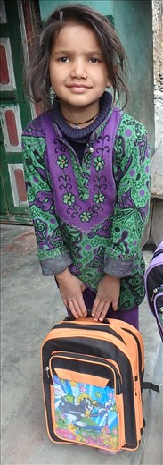 Ragini is lucky to be able to go to school this year after a long illness.