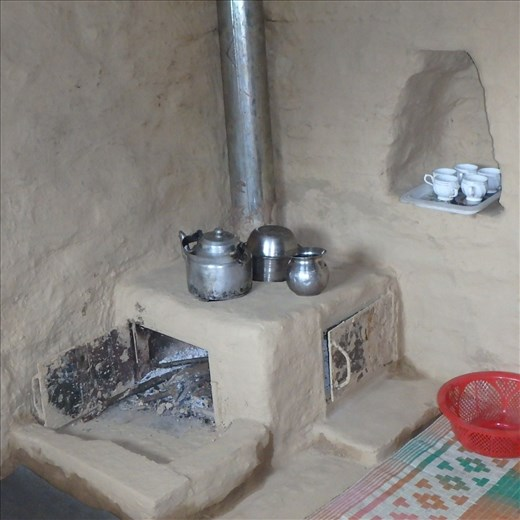 One of the first fuel efficient stoves (chulhas) installed in Jatoli.