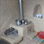 One of the first fuel efficient stoves (chulhas) installed in Jatoli.: by bonnie, Views[156]