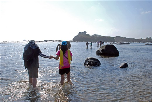 A journey to the enchanting rock formation in North Samar Philippines begins with a single wade