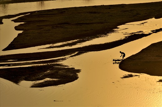 Silabati river is the attraction of youth sports activities during dusk