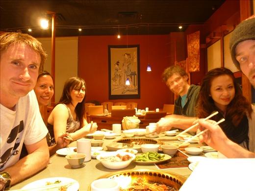 Me, Danielle, Randi, Mark, Lynn and Bretto at Shabusen Bbq in the city.